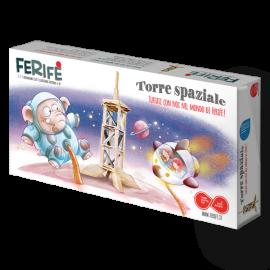 gioco per bambini in legno torre spaziale