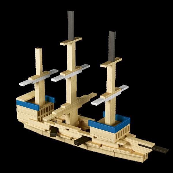 nave da costuire in legno per bambini